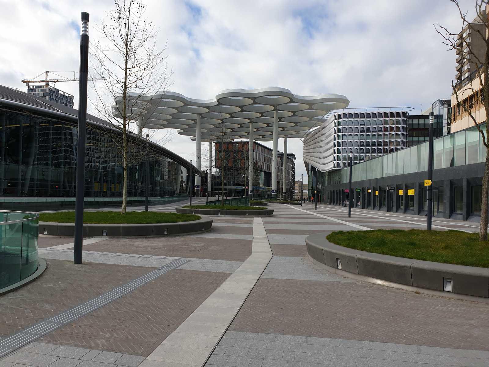 Utrecht Central Station. The lockdown.