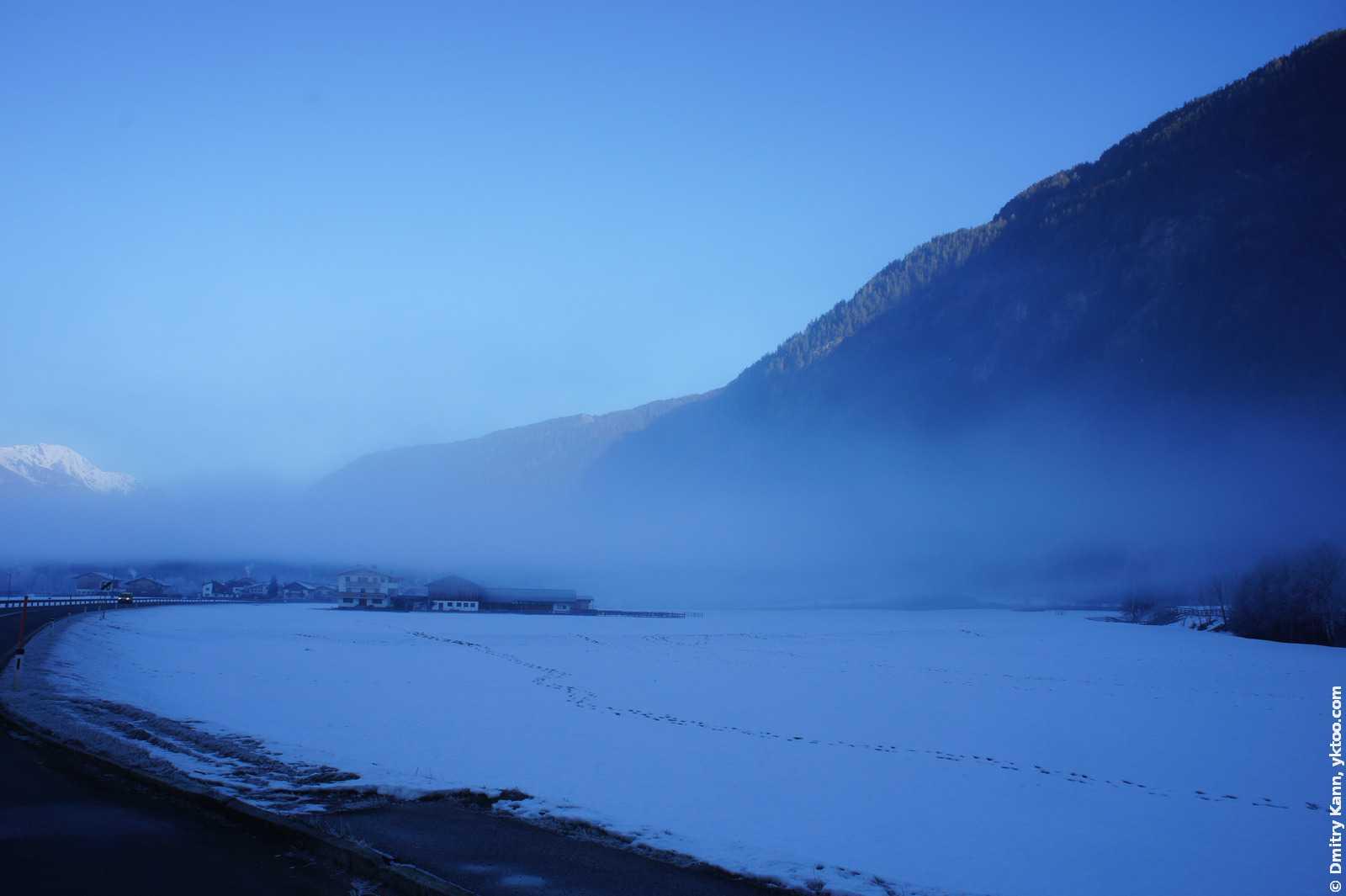 Туман в Тироле.