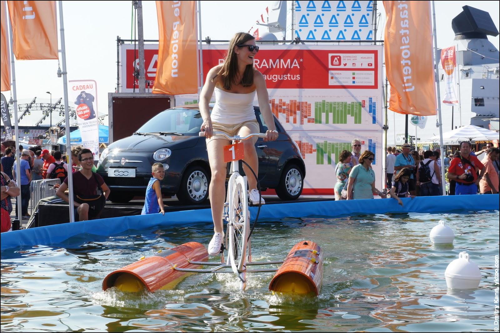 Водный велосипед.