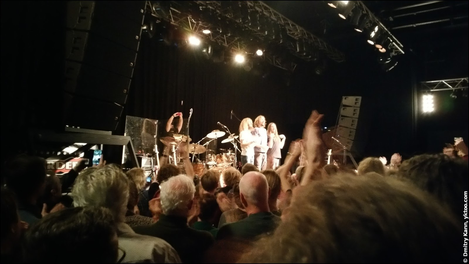 The Aristocrats, left to right: Guthrie Govan, Marco Minnemann, Bryan Beller.