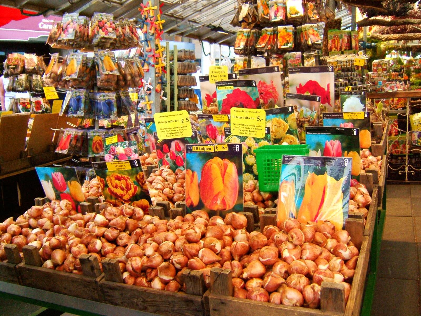 Амстердам, Цветочный рынок. Фото: ms.Tea/Wikimedia.