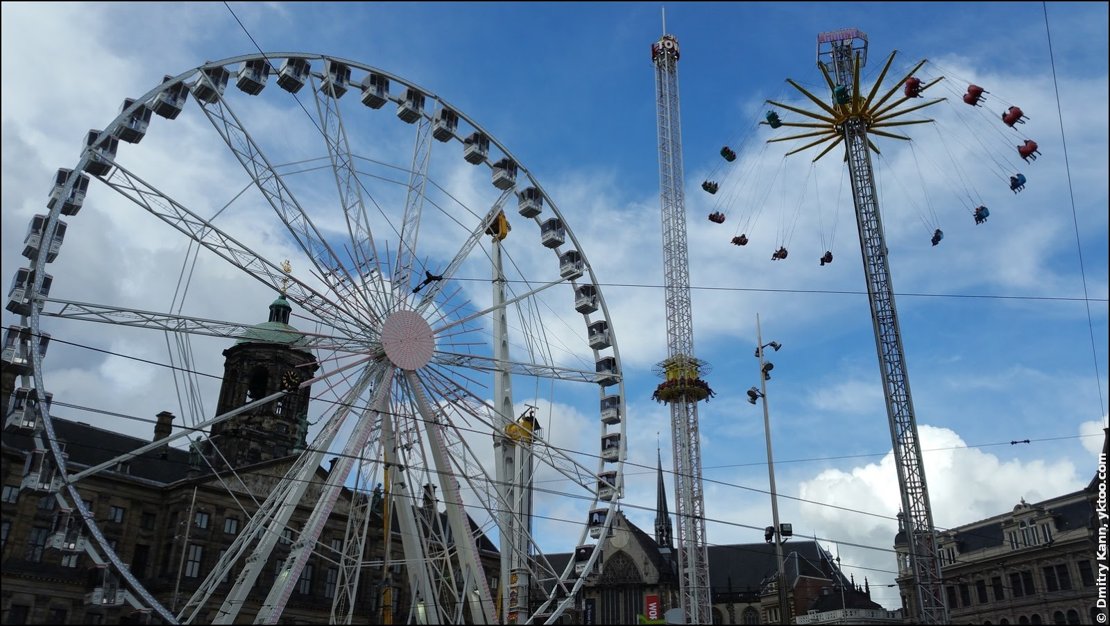 Attractions on the Dam square.