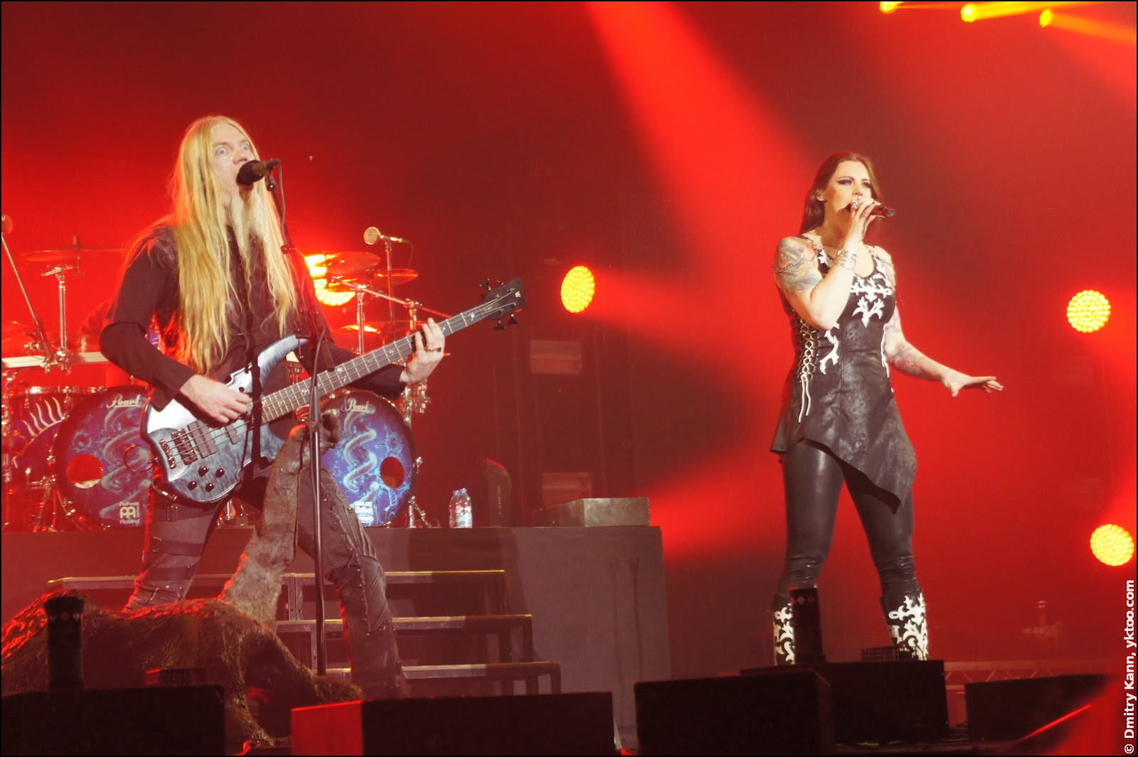 Nightwish: Marco Hietala and Floor Jansen.