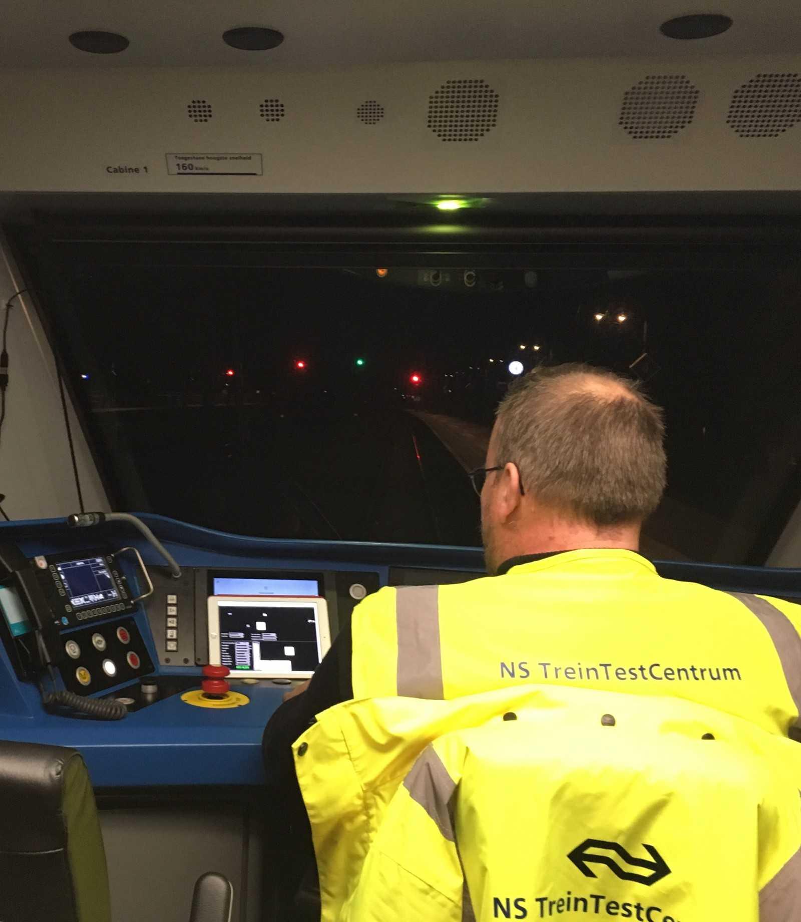 Испытание беспилотного поезда. Фото: ns.nl.