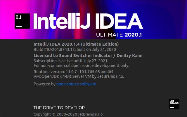 Intellij IDEA 2020.1 Ultimate.