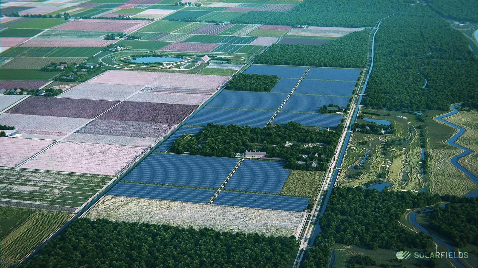 Проект солнечного парка Dorhout Mees – Biddinghuizen. Фото: Solarfields.