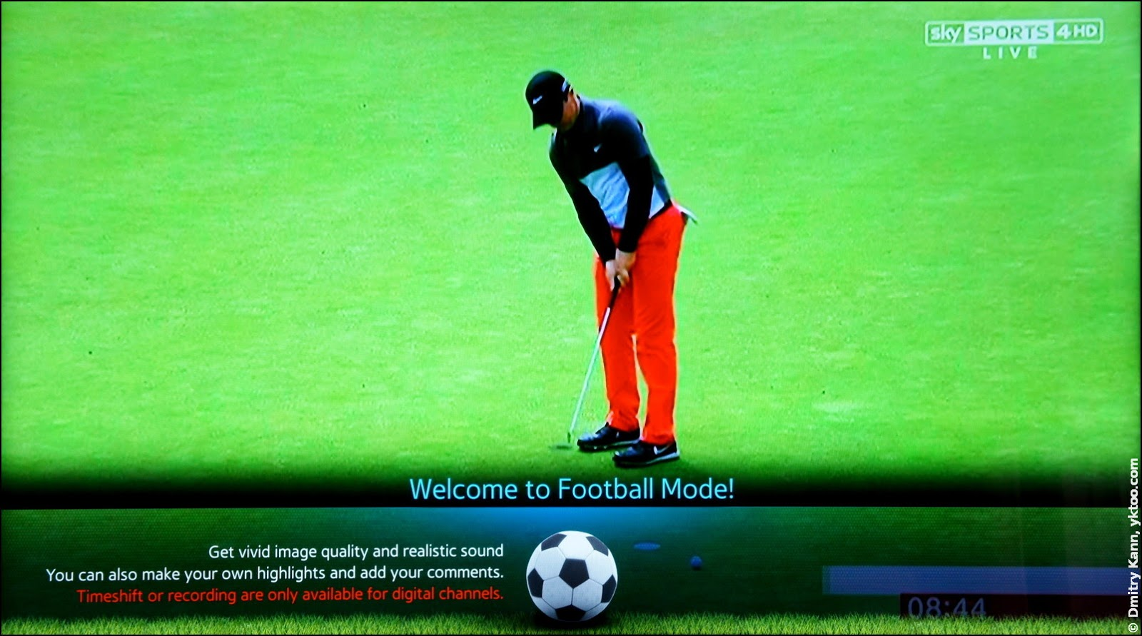 Golf in the Football Mode.