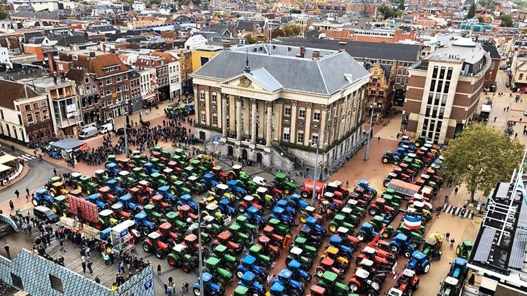 Гронинген, Grote Markt, в понедельник 14.10.2019 г. Фото: RTV Noord.