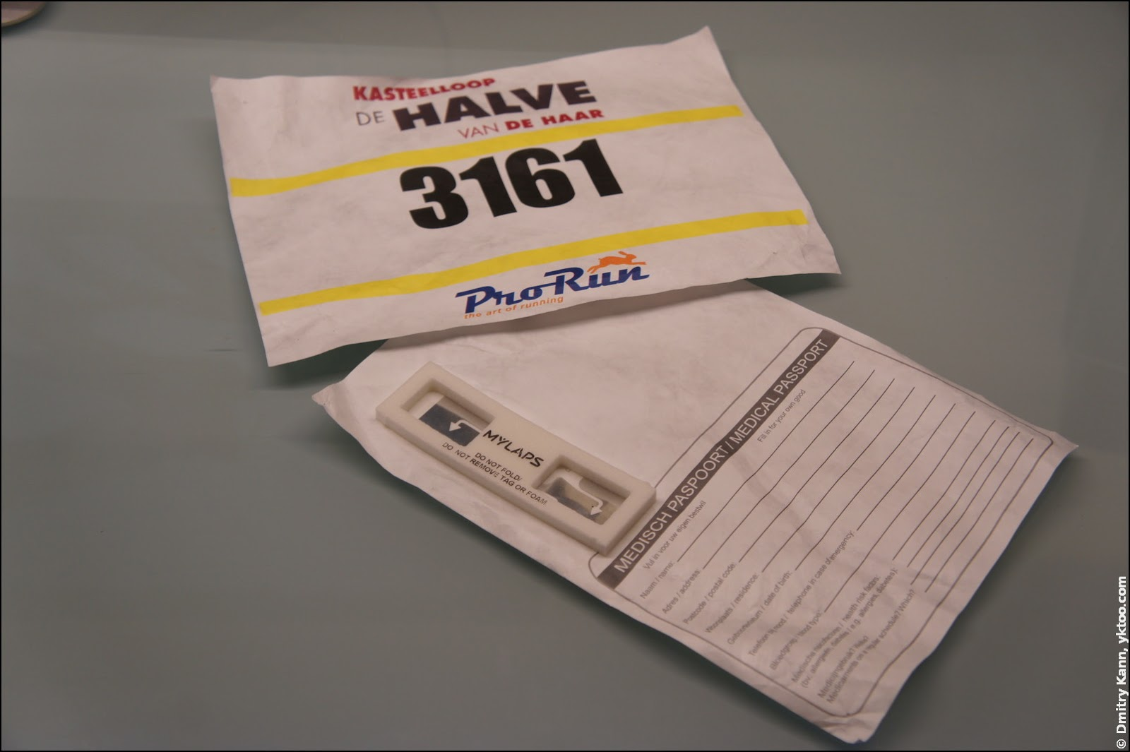 Bib number with an RFID chip.