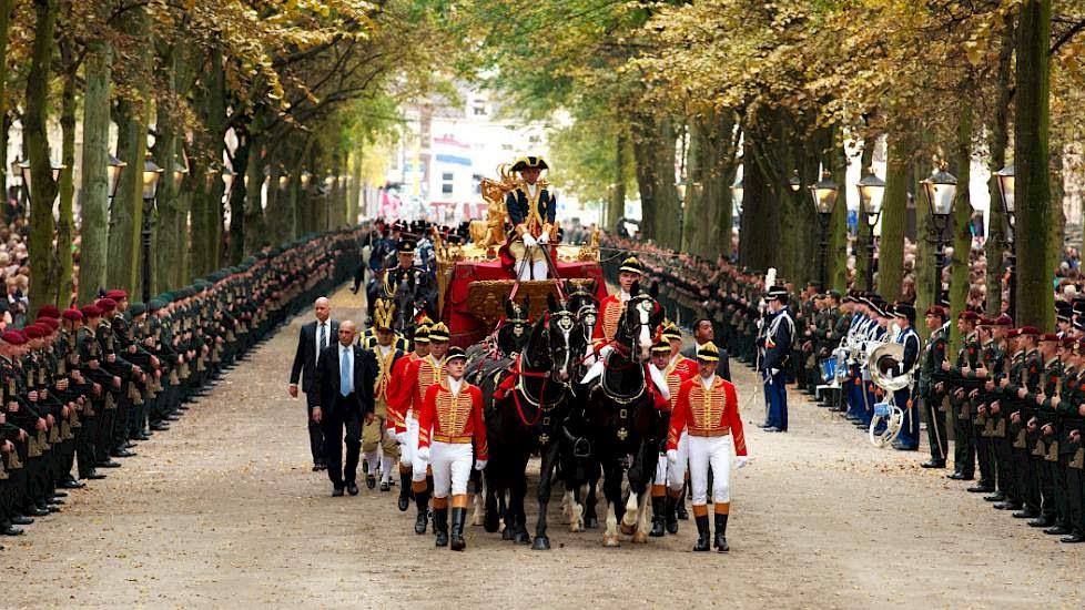 Королевская процессия в 2014 году. Фото pigbusiness.nl.