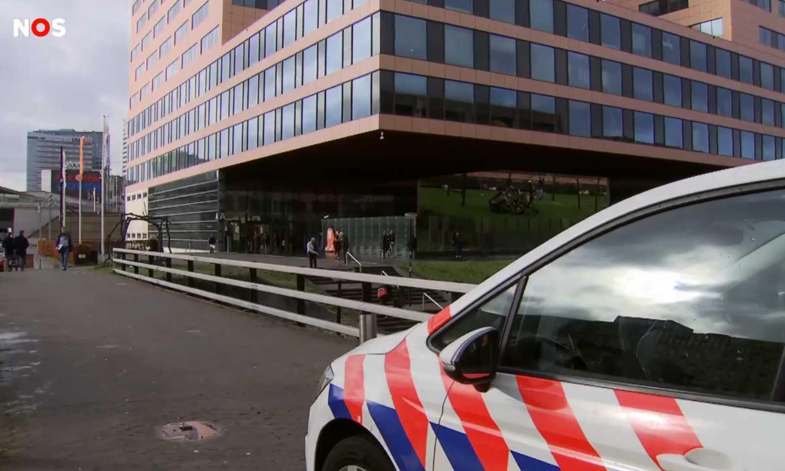 Здание штаб-квартиры ING в Amsterdam Zuidoost. Кадр из видео NOS.