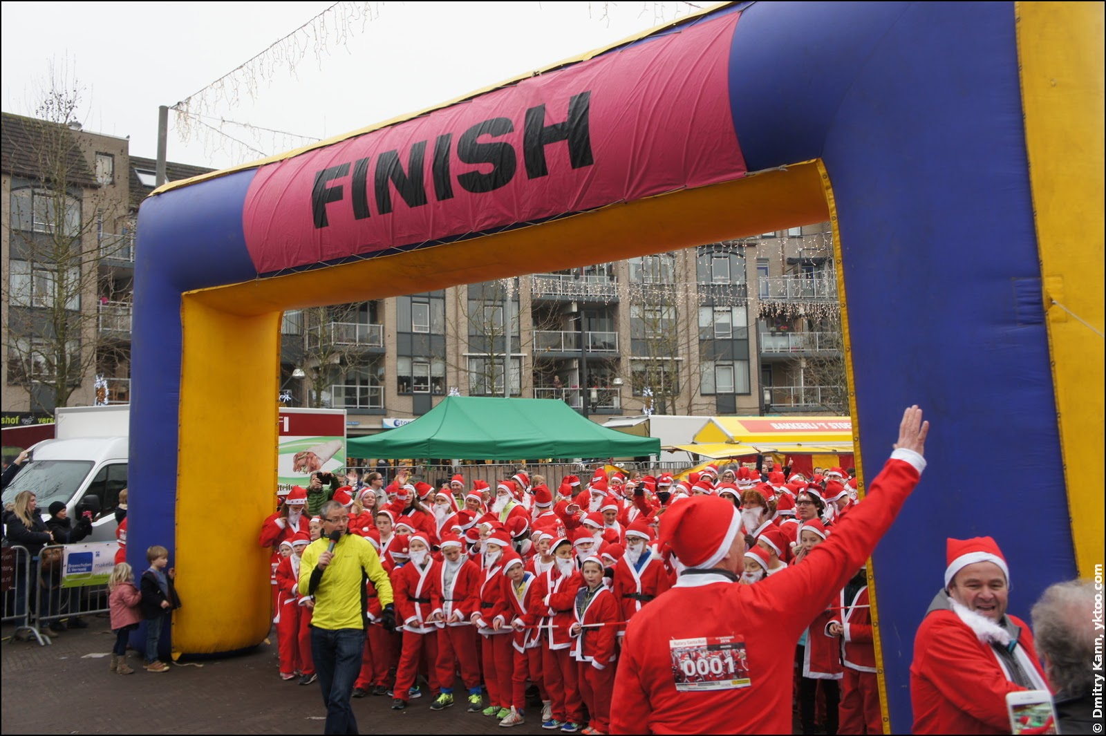 Rotary Santa Run Houten: the start.