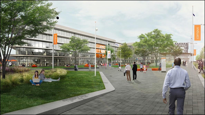 Изображение завершённого кампуса ING. Источник: ing.com.