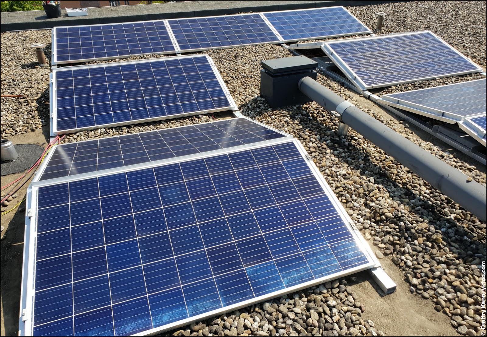 Солнечная электростанция в сборе.