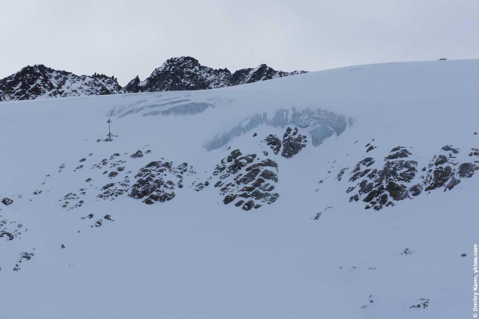Лёд на Тиффенбахском леднике.