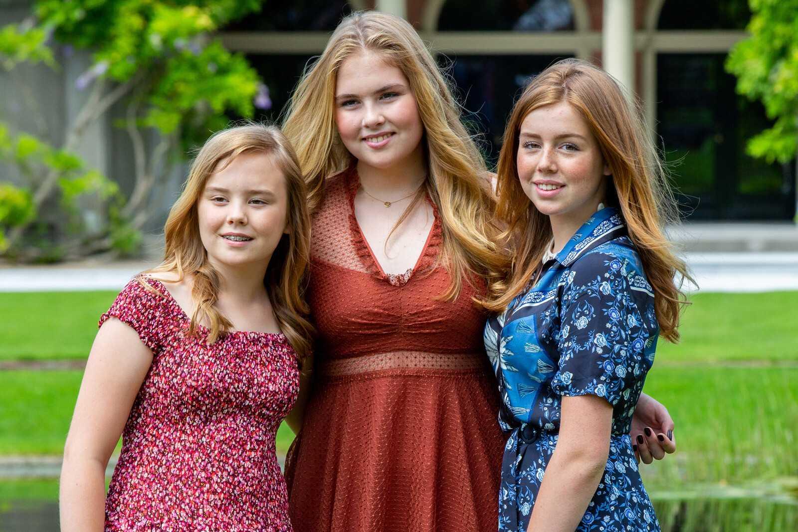 Слева направо: принцессы Ариане, Амалия, Алексия. Фото: ©RVD/Wesley de Wit.