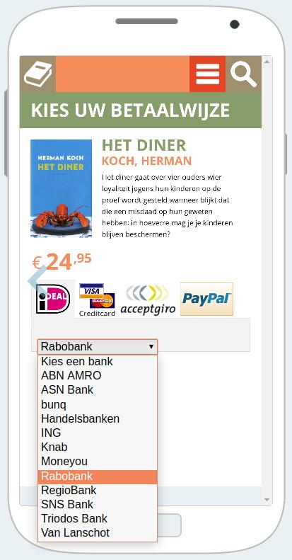 Выбор банка для оплаты. Изображение: ideal.nl.