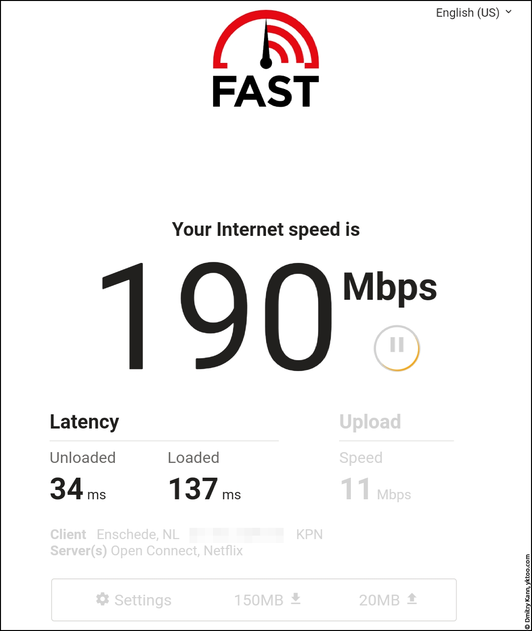 LTE speed — fast.com.