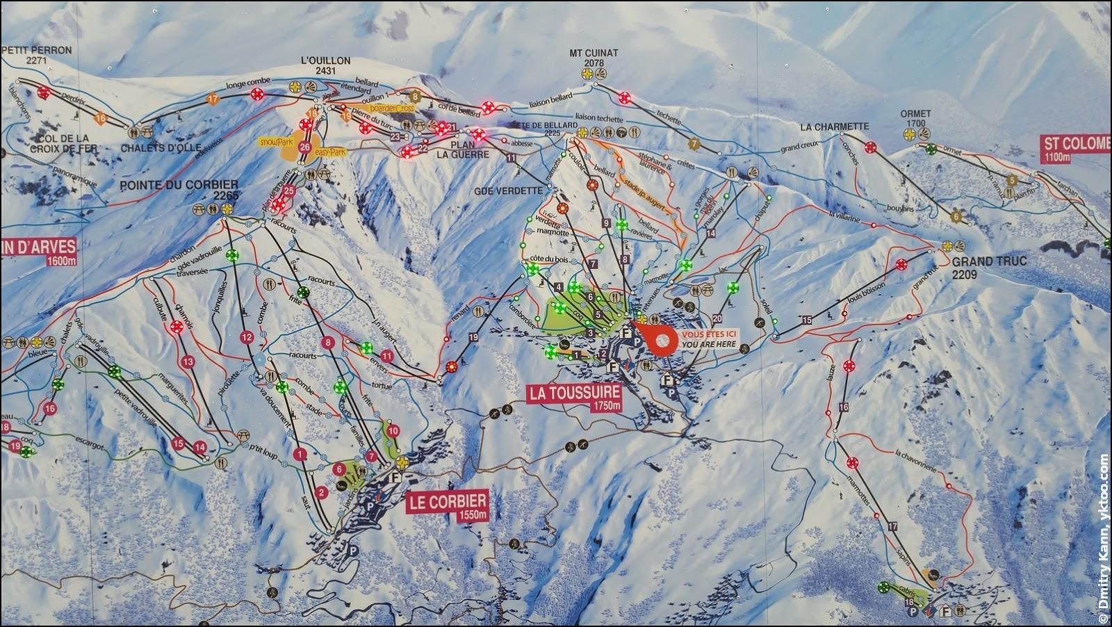Interactive ski map.