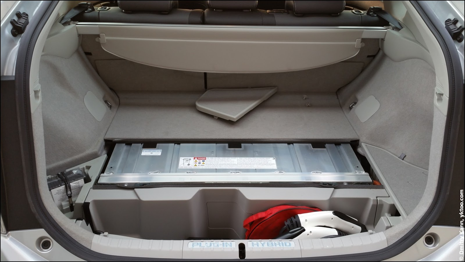 The boot of Prius PHV.