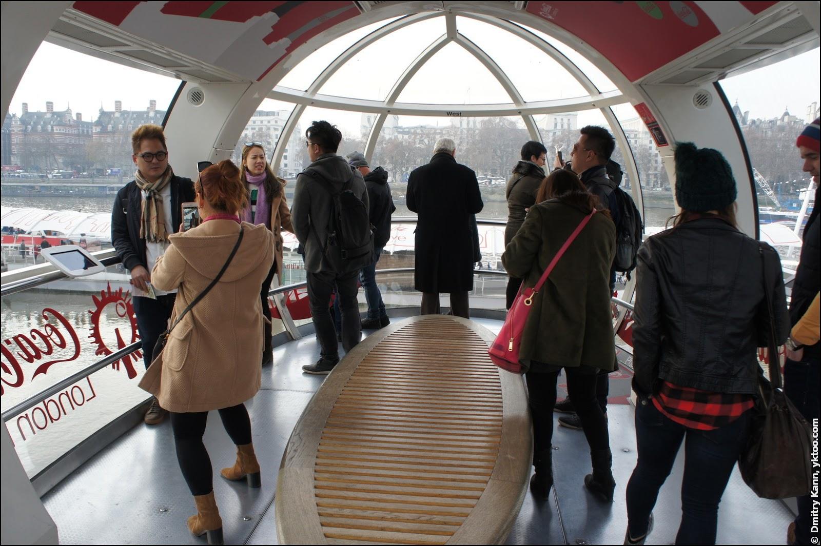 Кабинка London Eye.