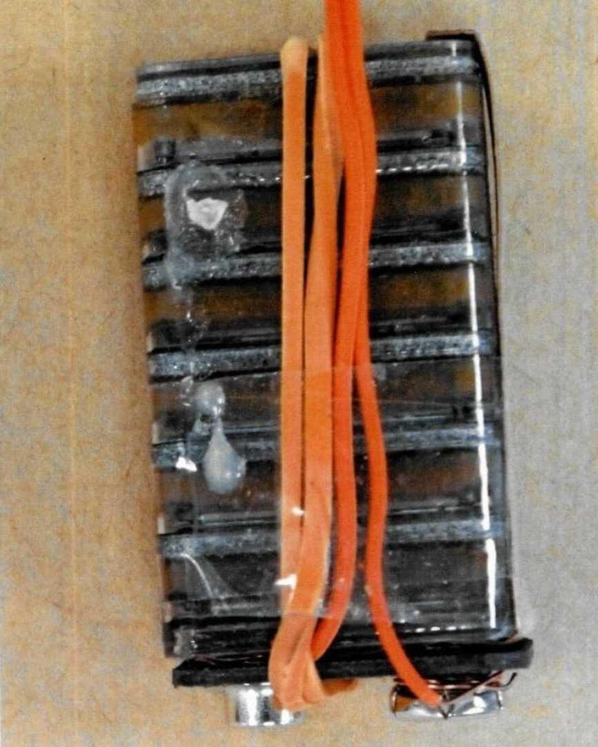 Батарея, использованная во взрывном устройстве. Фото: полиция Нидерландов.