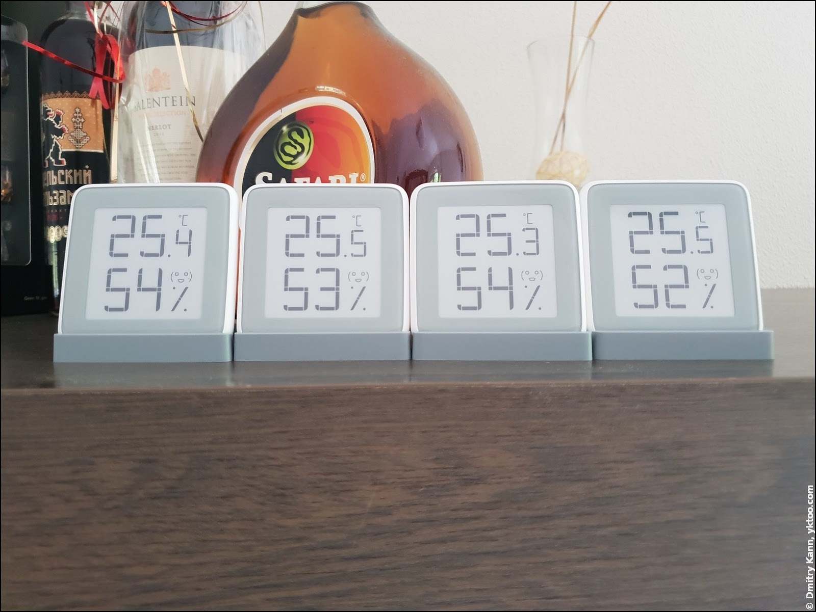 The readings of all four thermometers are pretty closely aligned.