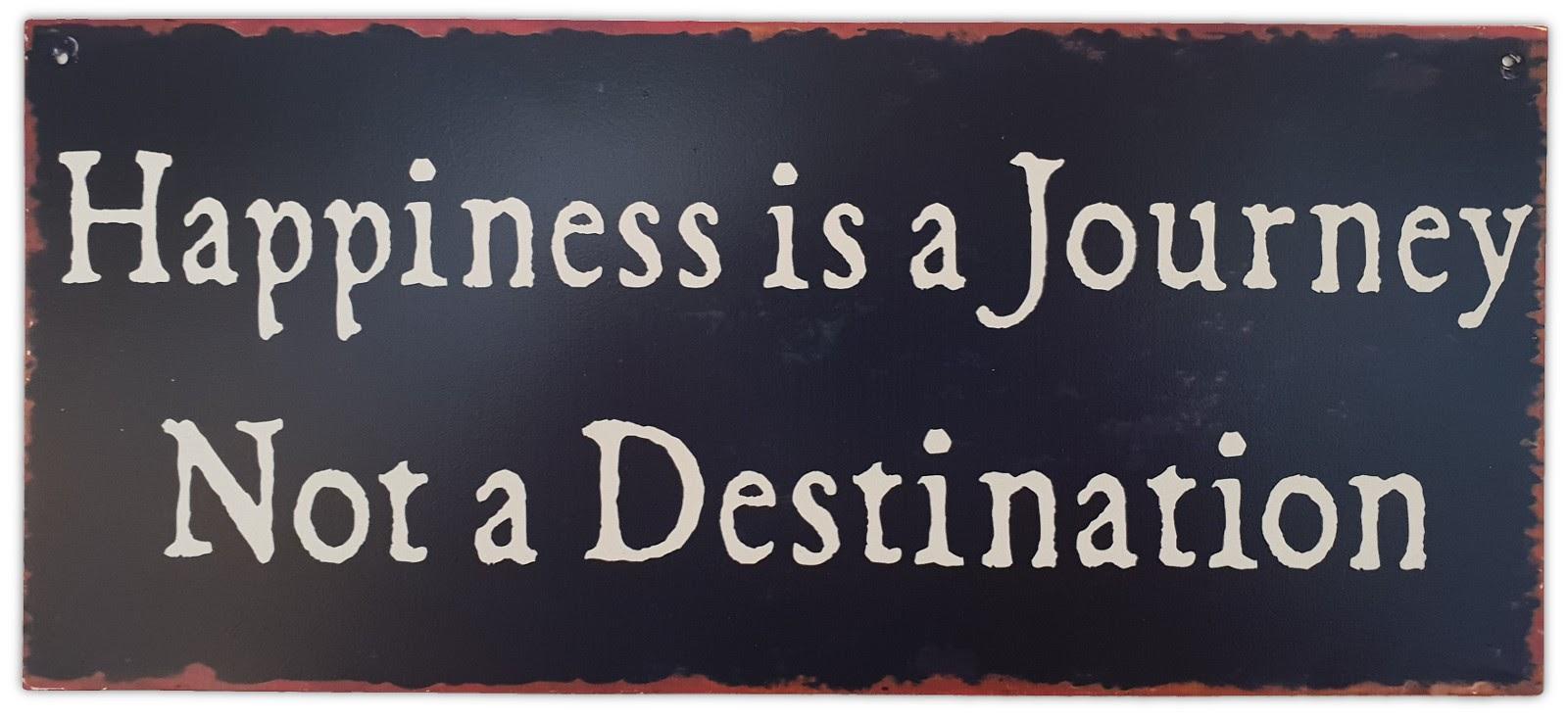 «Счастье — это путешествие, а не точка назначения»