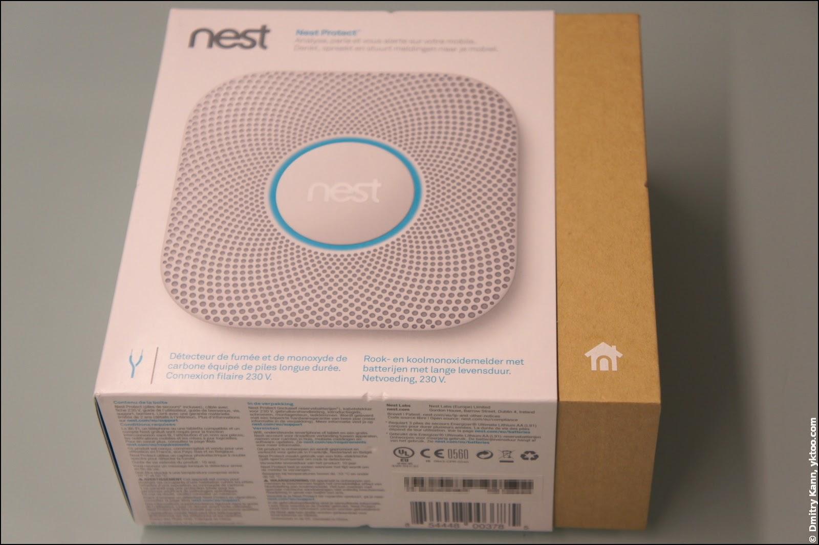 Nest Protect 2 в упаковке.