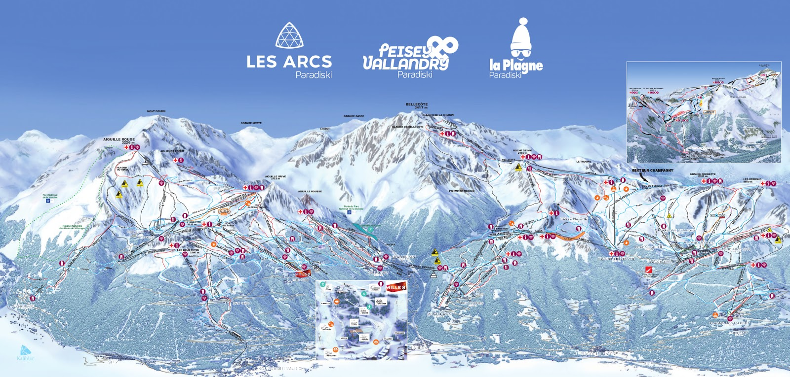 Map of Paradiski. Source: winter.la-plagne.com.