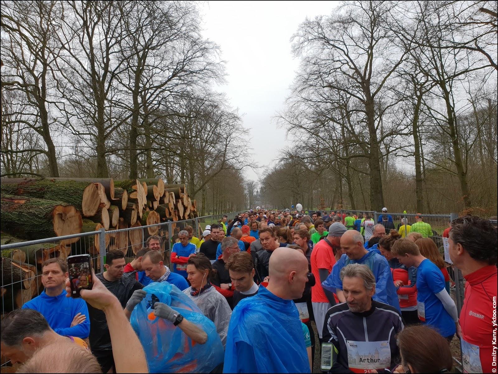 The start of the half marathon.
