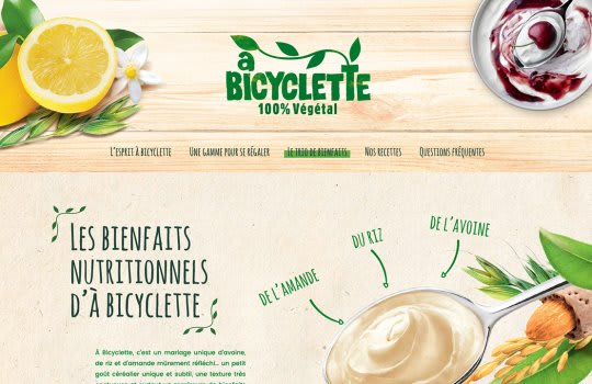 A bicyclette — La page du trio de bienfaits nutritionnels