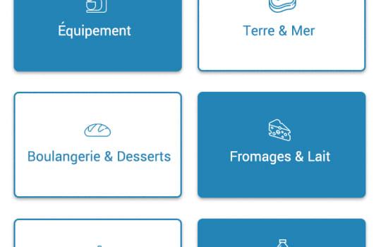 Gourming—La page de choix de produit