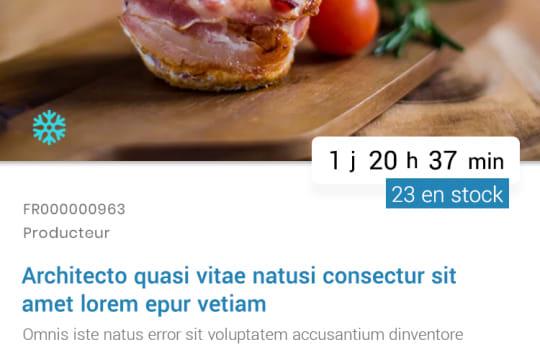 Gourming—La page d'un produit en promotion