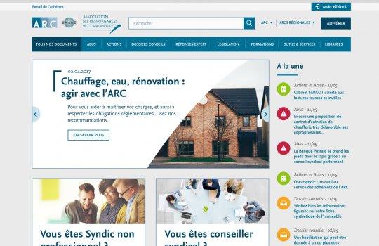 ARC—La page d'accueil
