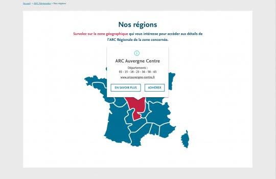 ARC–Pages des régions