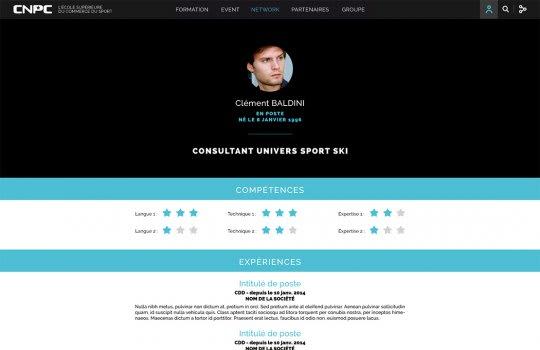 CNPC—La page du profil CV