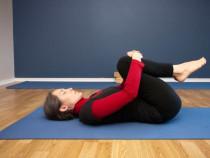 Knees To Chest (Apanasana) Yoga Pose