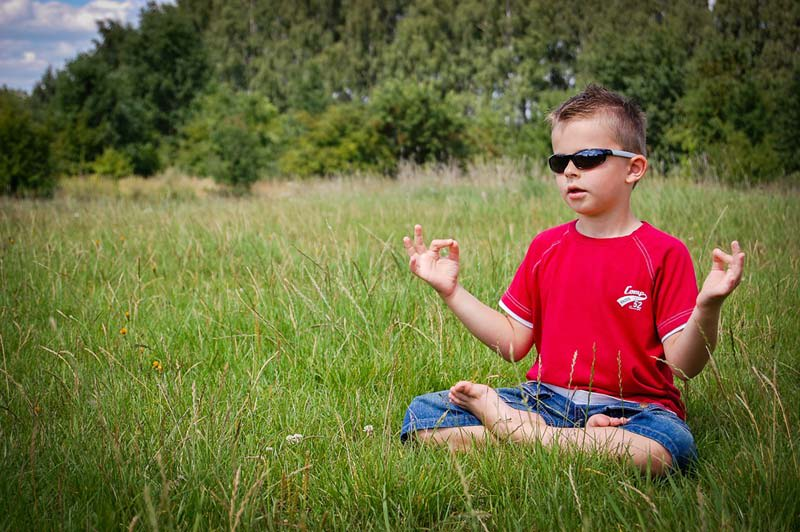 Child Doing Meditation