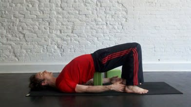 Supported Bridge Yoga Pose