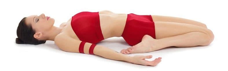 Reclining Hero Yoga Pose