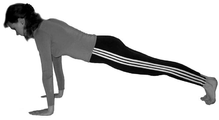 plank pose phalakasana
