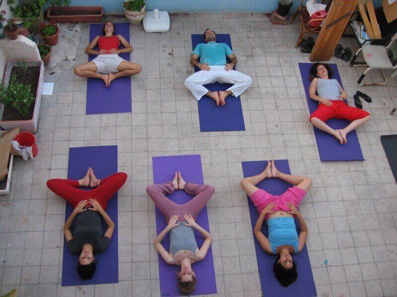 Supta Baddha Konasana (Reclining Bound Angle Pose)
