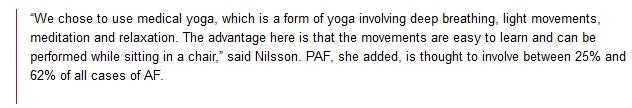 Yoga for AF Patients