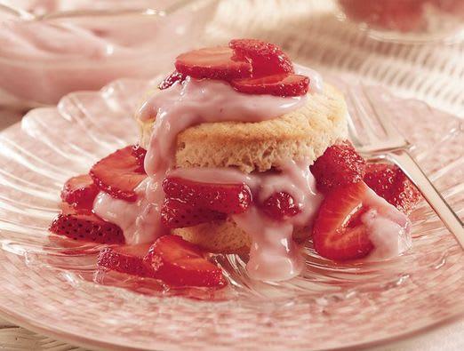 Strawberry Yogurt Shortcakes