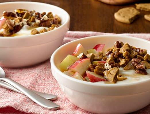 Gingersnap Apple Crisp Yogurt Bowl