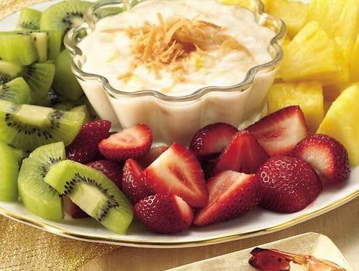 Fruit with Pina Colada Dip