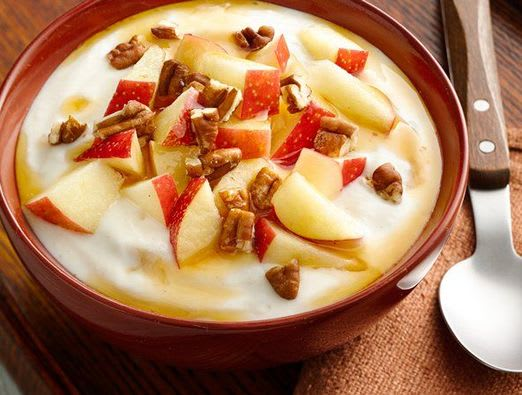 Maple Pecan Apple Yogurt Bowl
