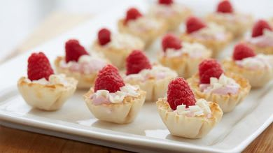 Raspberry Phyllo Cups