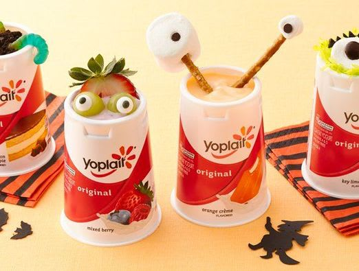 Spooky Monster Yogurt Cups